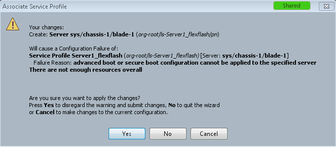advance boot or secure boot configuration cannot be applied